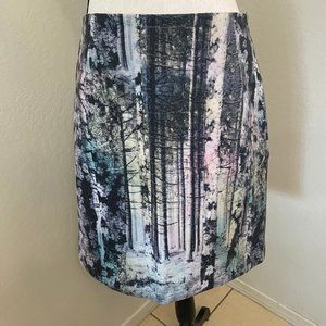 Catherine Malandrino Pastel Tree Forest Skirt